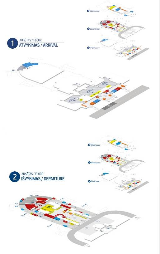 План-схема вильнюского аэропорта