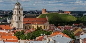 Вид на Старый город Вильнюс
