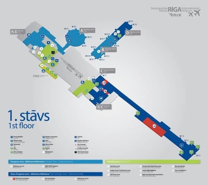 Аэропорт рига схема на русском языке