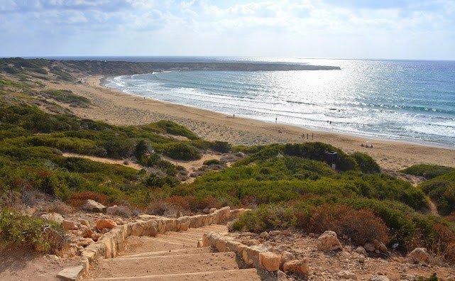 Черепаший пляж на Кипре