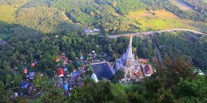 Вид на храм с горы