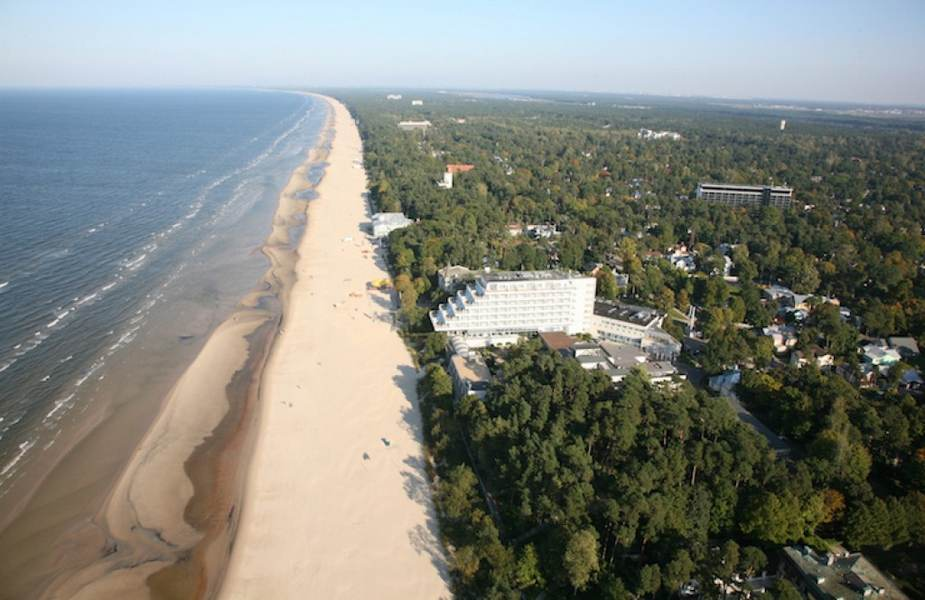 Пляжная полоса Юрмалы