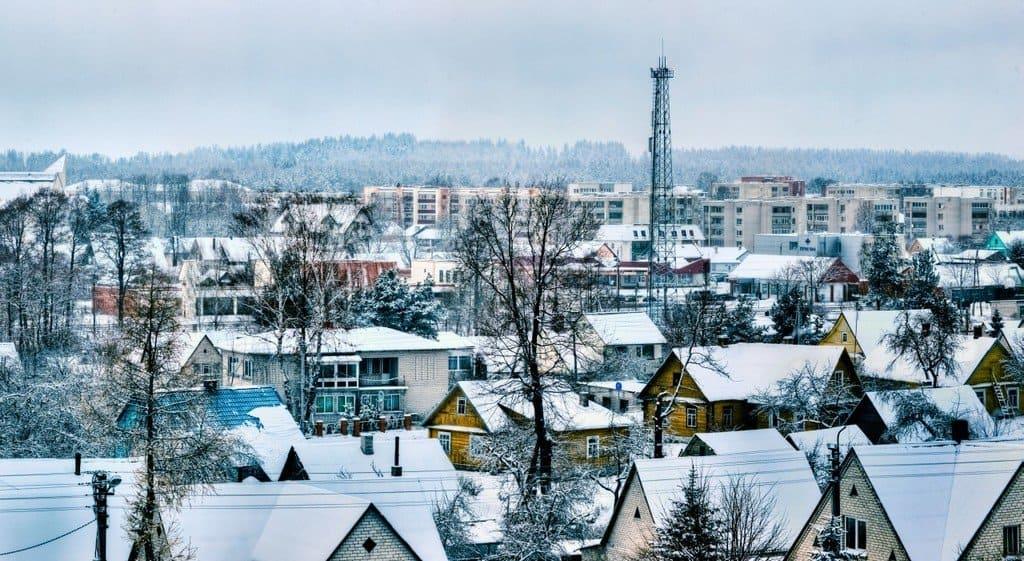 Зима в Игналине