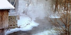 Водянная мельница зимой