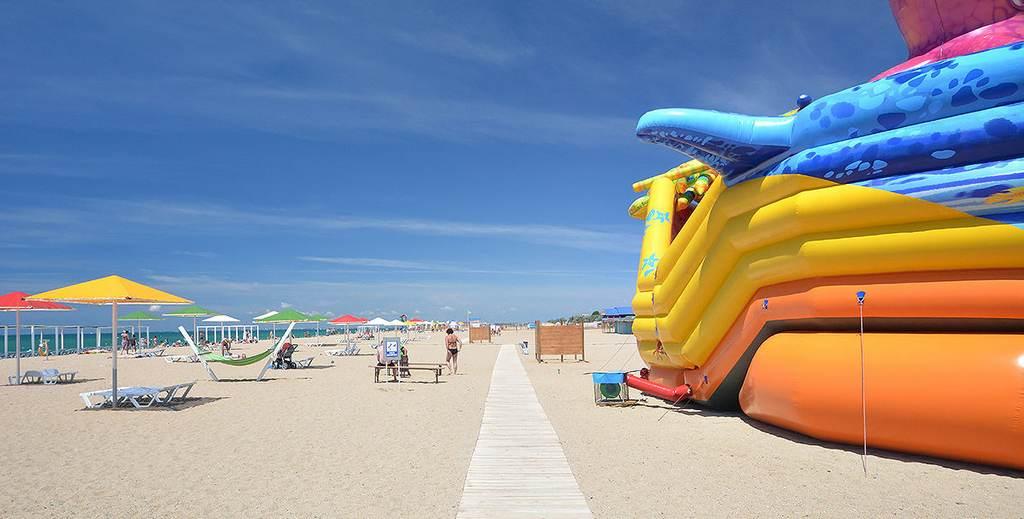 """Саки - пляж базы """"Прибой"""""""