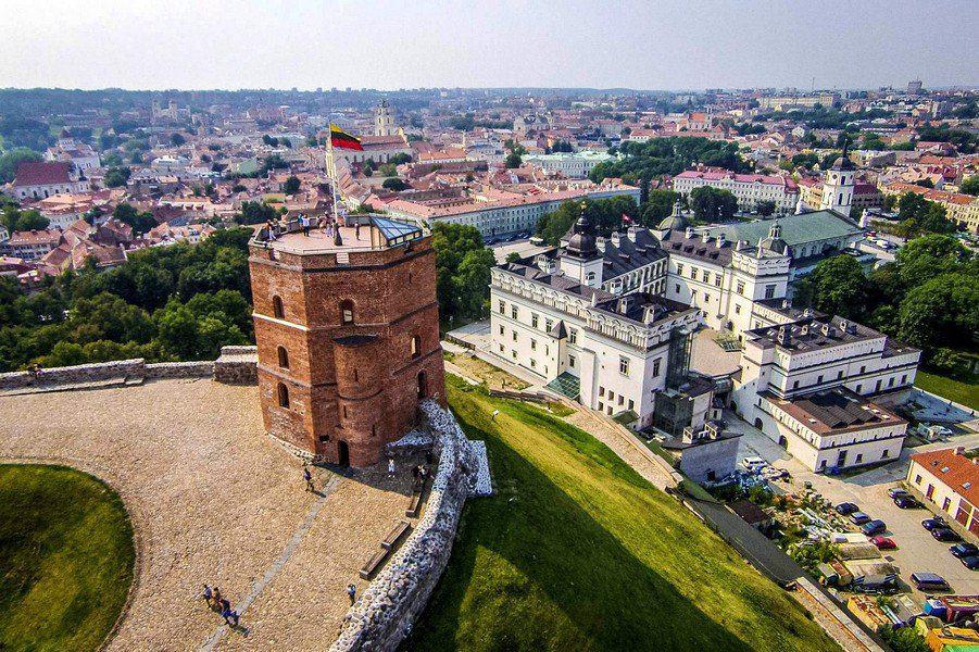 Панорама Вильнюса с башни Гядиминаса