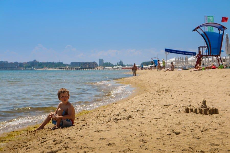 Пляж на Солнечном берегу