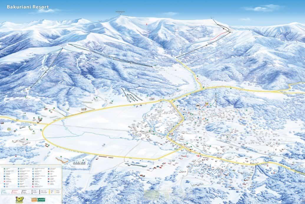 Карта трасс в Бакуриани