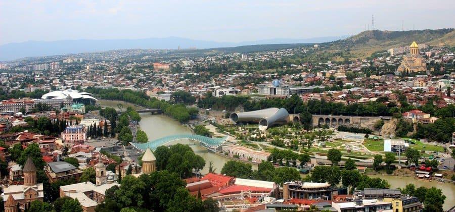 Тбилиси - панорамный вид