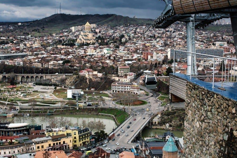 Тбилиси в начале весны