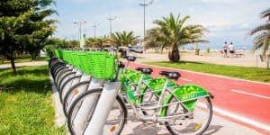Прокат велосипедов на бульваре