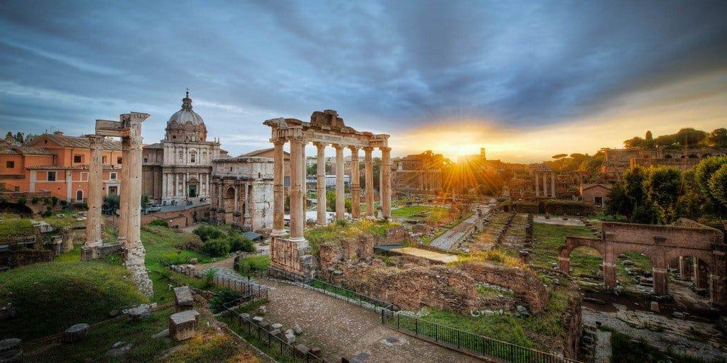 Римский форум на закате