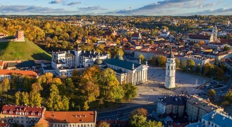 Вильнюс панорама сверху