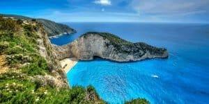 Бухты острова Закинф в Греции
