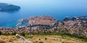Вид с горы на Дубровник