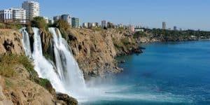 Водопад и район Лара