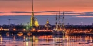 Вечерний вид на Петропавловскую Крепость