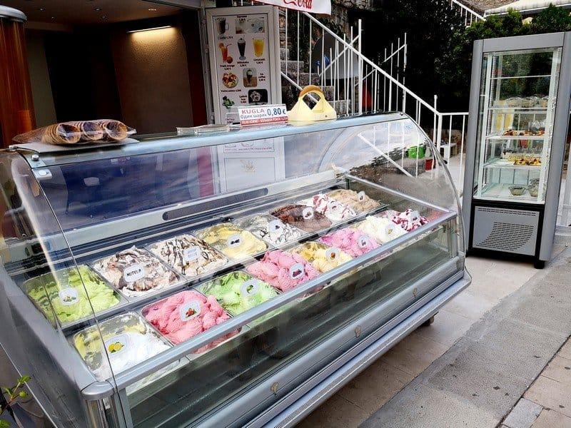 Цены на мороженое в Будве
