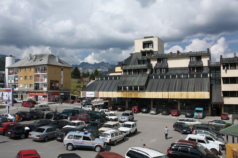 Небольшой городок среди гор