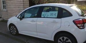 Аренда машины в Будве на улице