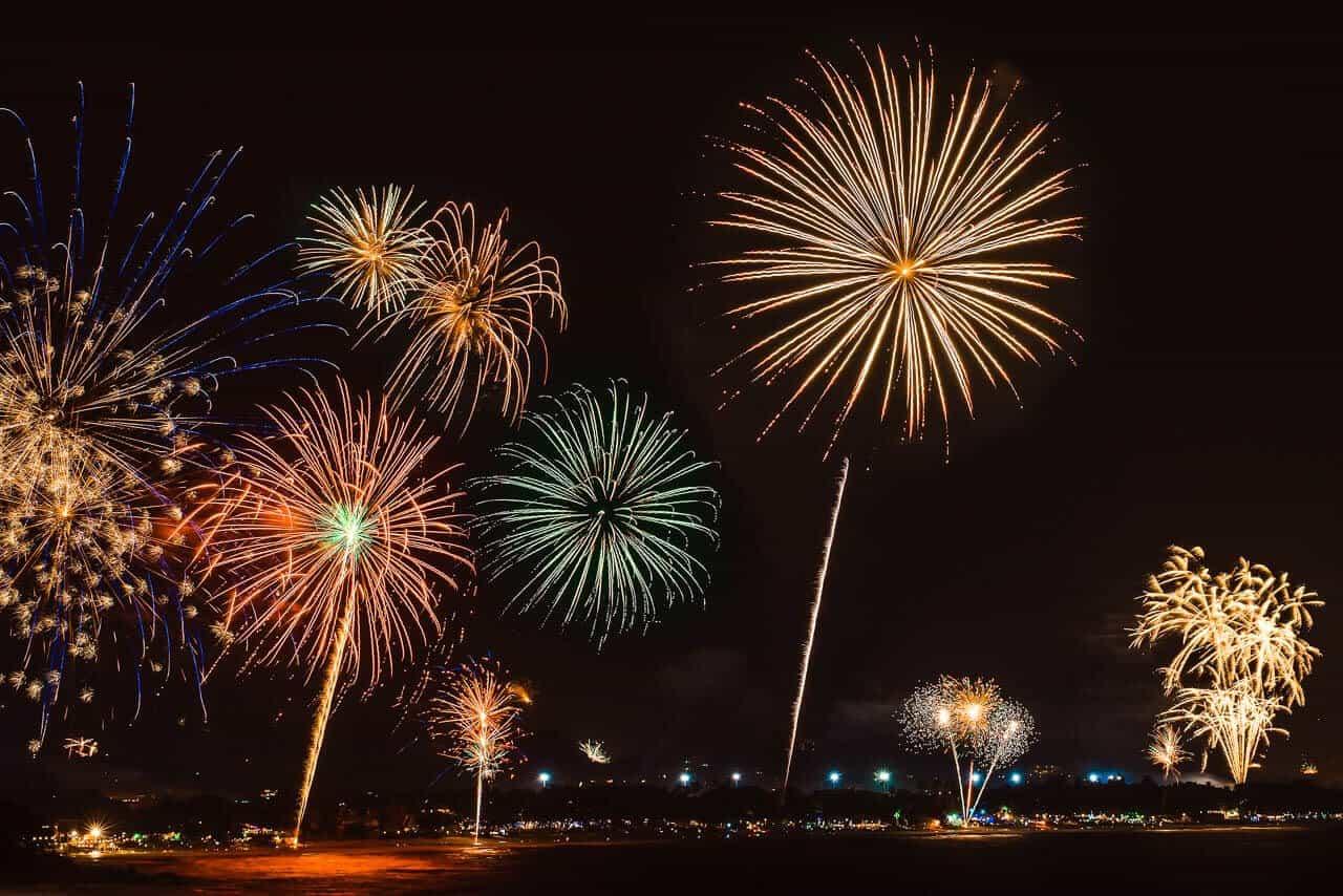 Салют на Новый год в Самуи