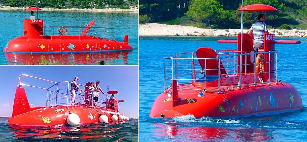 Подводная лодка для детей в Будве