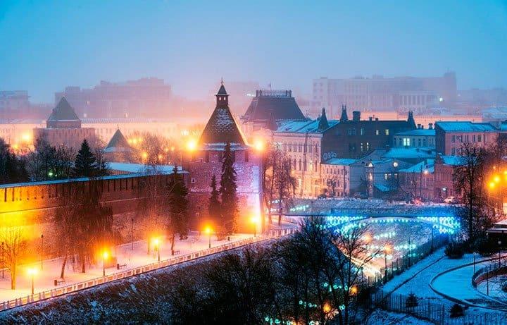 Нижний Новгород в декабре