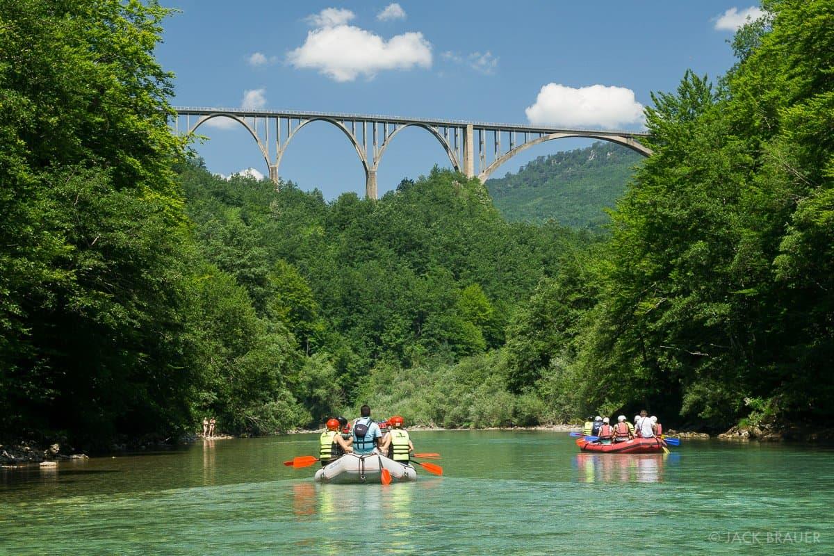 Вид с реки Тара на Мост Джурджевича