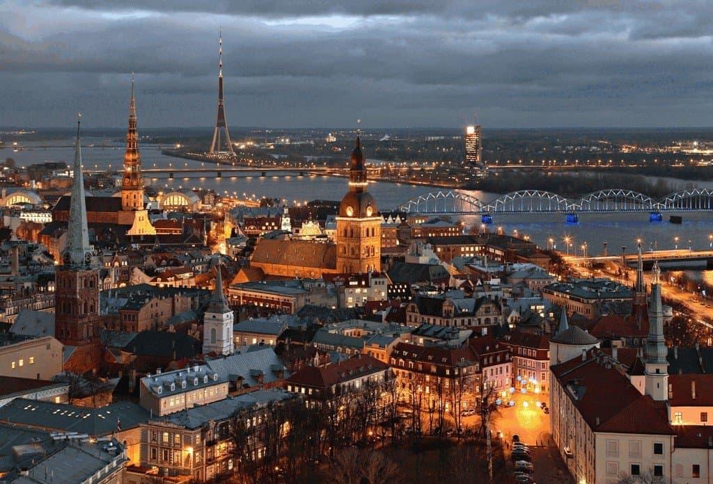 Панорама Риги на Новый год