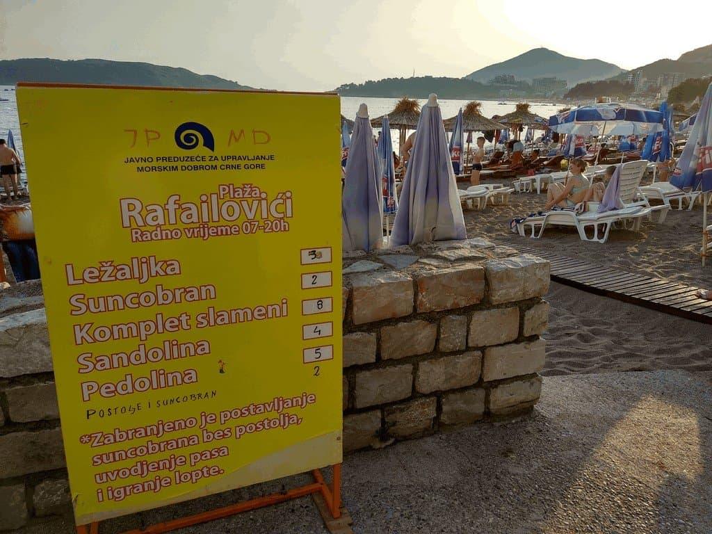 Цены на лежаки в Рафаиловичи