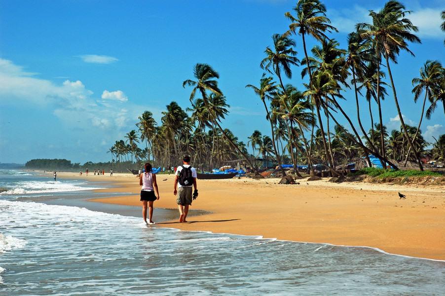 Пляжи Гоа зимой